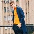 Viishow новое поступление мужские бушлат долго стильный блейзер slim-подходят мужчины костюмы пиджаки зимний верхней одежды s-xxxl