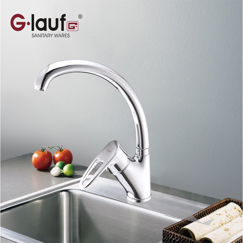 Glauf Russie 9G4-A180 cuisine robinet en laiton Mitigeur Eau Chaude et Froide Monté Contemporain