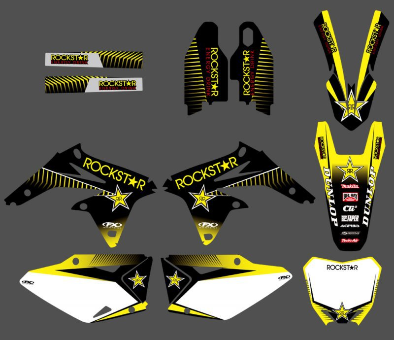 0144 Yellow Star NEW TEAM DECALS STICKERS Graphics For Suzuki RMZ450 2008 2009 2010 2011 2012 RMZ 4500144 Yellow Star NEW TEAM DECALS STICKERS Graphics For Suzuki RMZ450 2008 2009 2010 2011 2012 RMZ 450