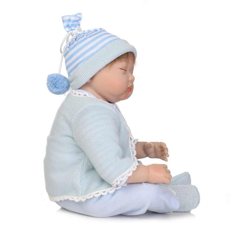 55 см Кукла Reborn Мягкая силиконовая кукла и одежды для новорожденных модель для мальчика кукла playmate детские игрушки Рождественский подарок на день рождения