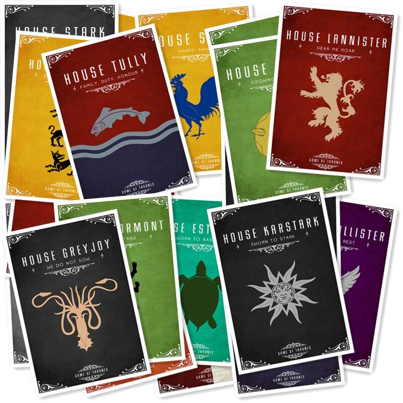 A1-22 # Серия 3 Игра престолов 20/шт наклейки различные формы Креативный дизайн каракули наклейки