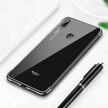 Keajor case For Xiaomi Redmi Note 7 Case Soft Plating TPU Silicon Luxury Transparent Bumper Cover pro back