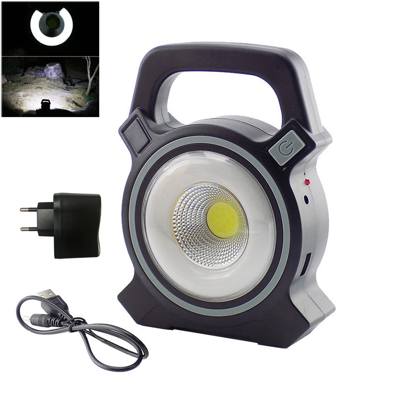 New LED Floodlight Portable Flood Light Solar Rechargeable Flashlights Lanterns COB Outdoor Work Spot Lamp Camping Lighting