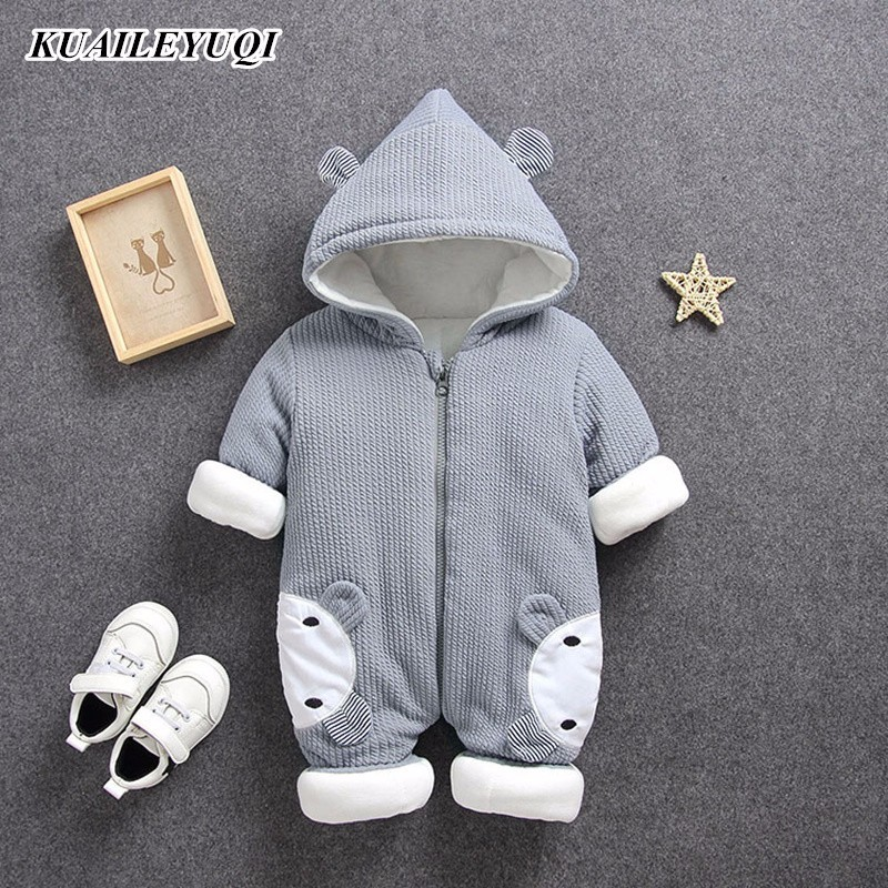 Kuaileyuqi 2019 Autumn Winter coat Jumpsuit Baby clothing