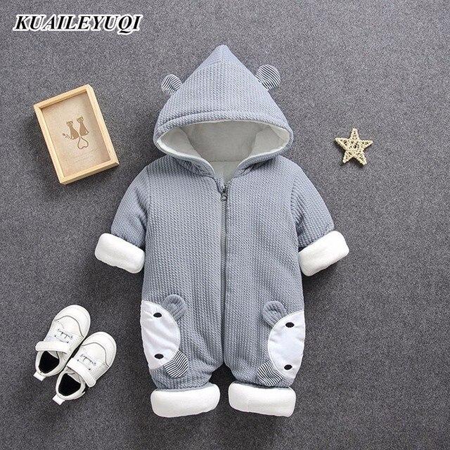 2018 Autumn Winter coat Jumpsuit Baby clothing Newborn Snowsuit Boy Warm Romper Down Cotton Jackets Girl Snow clothes Bodysuit