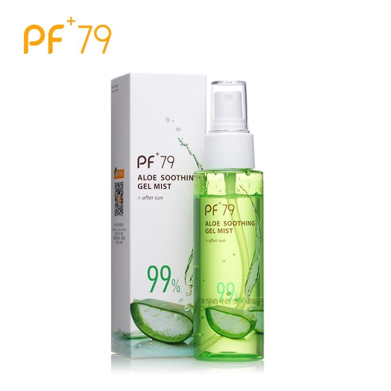 PF79 Aloe Spray Feuchtigkeitscreme Organische Beruhigende Gesicht Gel Nebel Anti Akne Anti Empfindliche Öl Control 99% Aloe Vera Gel Toner