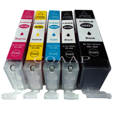 5 PCS PGI-580 CLI-581 Compatible ink Cartridge For Canon TS8150 TS8151 TS8152 TS9150 TS9155 TR7550 TS6150 inkjet printer