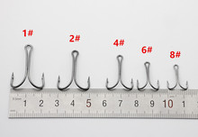 Rompin 50pcs/lot 9908 Double Fishing Hooks Small Fly Tying Double Dual Fishing Hook For Jig Size 1 2 4 6 8