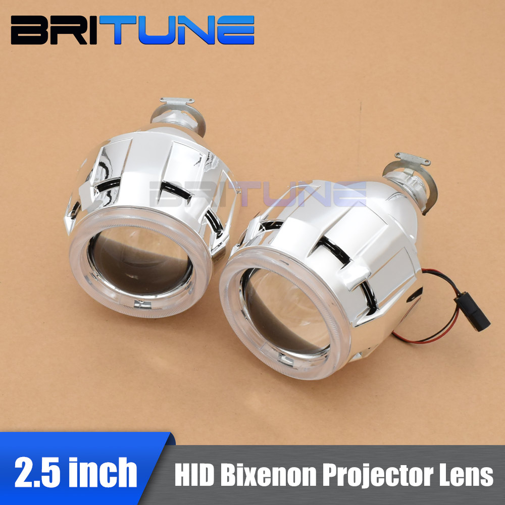 Car Styling Lenses in Headlight Mini 2 5 HID Bi xenon Projector Lens Shrouds H1 H4