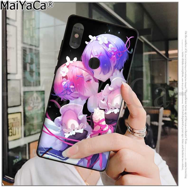 MaiYaCa anime zero rem Custom Photo Soft Phone Case for Xiaomi Redmi 5 5Plus Note4 4X Note5 6A Mi 6 Mix2 Mix2S