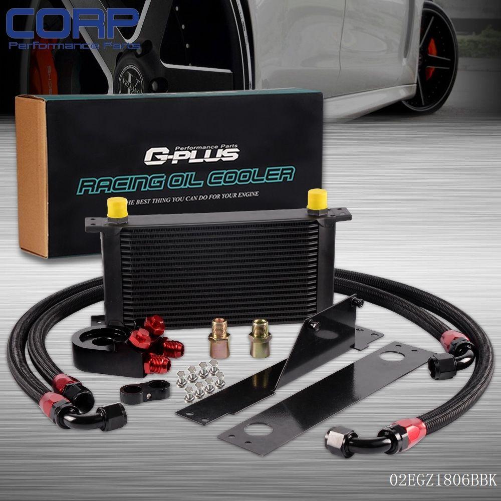 19 Row AN10 Racing Engine Oil Cooler Kit For 01-05 Subaru Impreza WRX/STi
