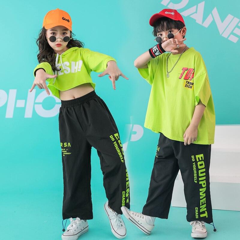 Kid Hip Hop Clothing Oversized Running T Shirt Tops Casual Pants For Girls Boys Jazz Dance Costume Wear Ballroom Dancing Clothes