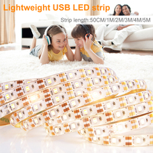 USB Led Strip 50CM 1M 2M 3M 4M 5M Flexible Ribbon Light Waterproof Fita LED 5V Lamp TV Background Lighting Tape