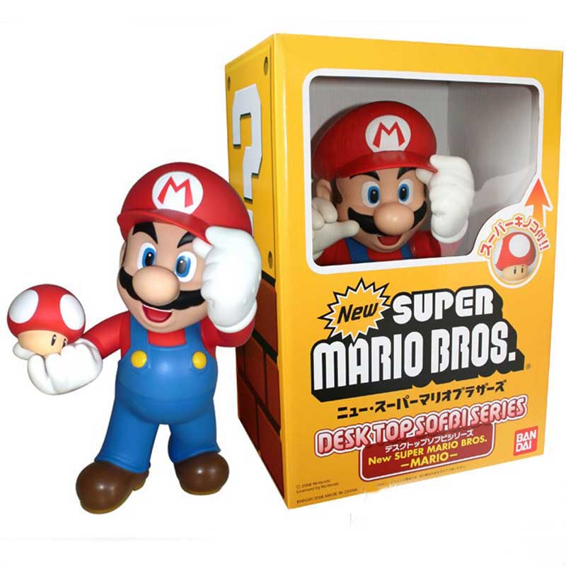 In Retail Box <font><b>Super</b></font> <font><b>Mario</b></font> Bros <font><b>Mario</b></font> With <font><b>Toad</b></font> Mushroom <font><b>Action</b></font> <font><b>Figure</b></font> Collectible Model Toy Kids Toys Christmas Birthday Gifts