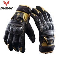 Free Shipping 1pair New DUHAN Autumn Motorcross Riding Gloves Riding Racing Full Finger Protection Motorcycle Gloves
