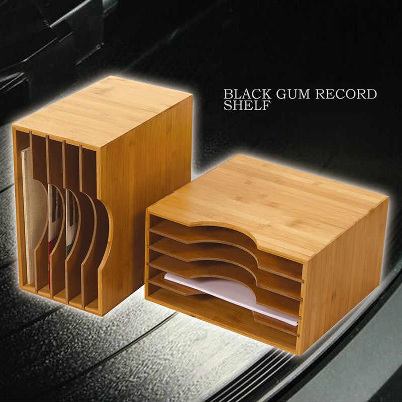 Estante de discos de goma negra clásico nostálgico LP estante de almacenamiento de discos de vinilo estante de almacenamiento CD deflector desmontable Flexible