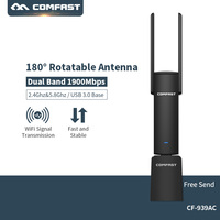 COMFAST Usb Wifi Adapter 1900mbps 2.4Ghz + 5.8Ghz Dual Band wi fi dongle Plug And Play AC Network Card USB Wifi Antenna CF 939AC