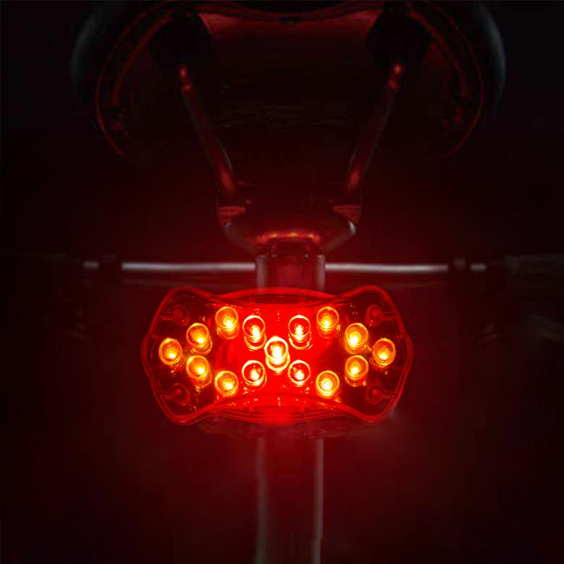 15 LED Bike Light Tail Light USB Rechargeable Lamp Cycling Rear Light Flashlight for Bicycle Bike Accessories Bicycle Light meilan x5 wireless bike bicycle rear light laser tail lamp smart usb rechargeable cycling accessories remote turn led