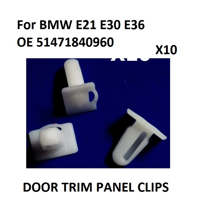 x10 Pieces Door Sill Plate Side Moulding Clip for <font><b>BMW</b></font> <font><b>E21</b></font> <font><b>E30</b></font> E36 OE 51471840960 New image