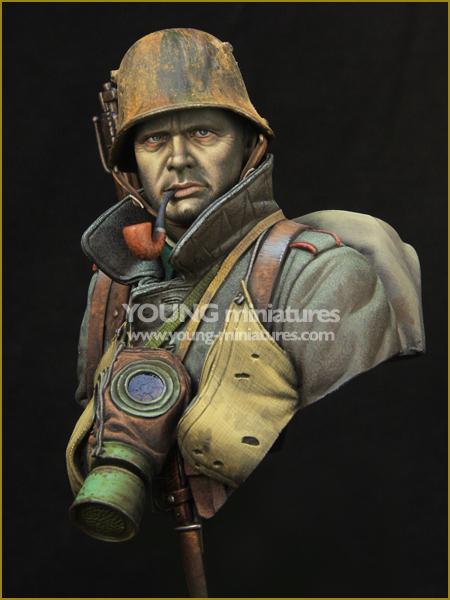 Os Kits de resina 1/10 Alemão WWI Stormtrooper figura busto Resina Não cor figura Modelo BRINQUEDOS DIY novo SEGUNDA GUERRA MUNDIAL WW2