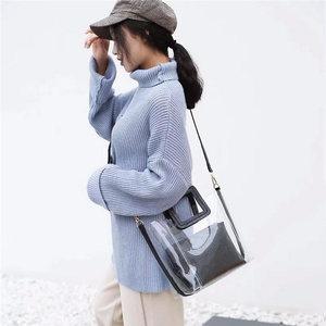 Image 2 - Женская прозрачная сумка желе из ПВХ, водонепроницаемая пляжная сумка тоут под крокодила, лето 2019