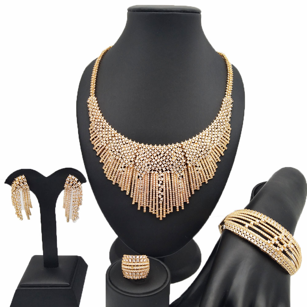 REAL GOLD 18K for wedding Zircon jewelry sets african  jewelry set wholesale african jewelry sets women necklace BRACELETREAL GOLD 18K for wedding Zircon jewelry sets african  jewelry set wholesale african jewelry sets women necklace BRACELET