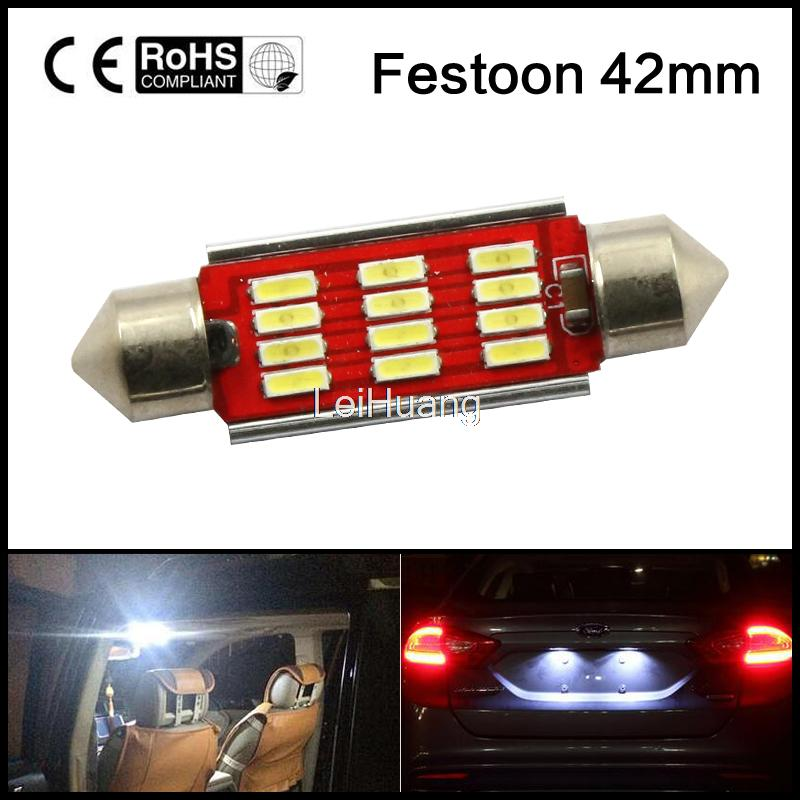 Error Free <font><b>Led</b></font> 41mm 42mm 12V 4014SMD Festoon Interior Light Car <font><b>SV8</b></font>,5 264 <font><b>Led</b></font> Lamp Bulb License Plate Light Pure White CANBUS