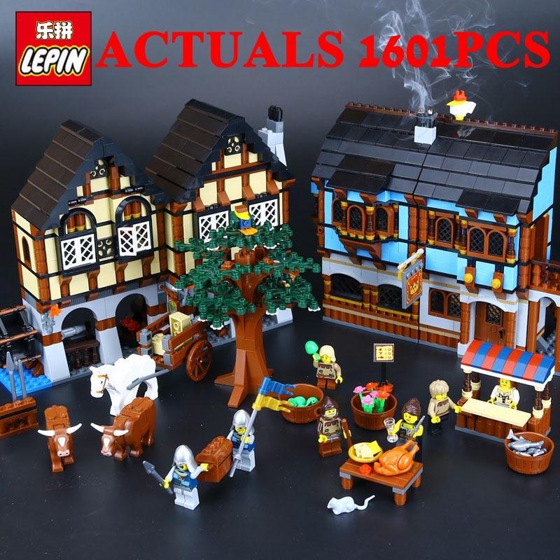 Лепин замок 16011 средневековый усадьба замок Совместимость Legos 10193 Строительные блоки Кирпич модели развивающие игрушки DIY1601Pcs