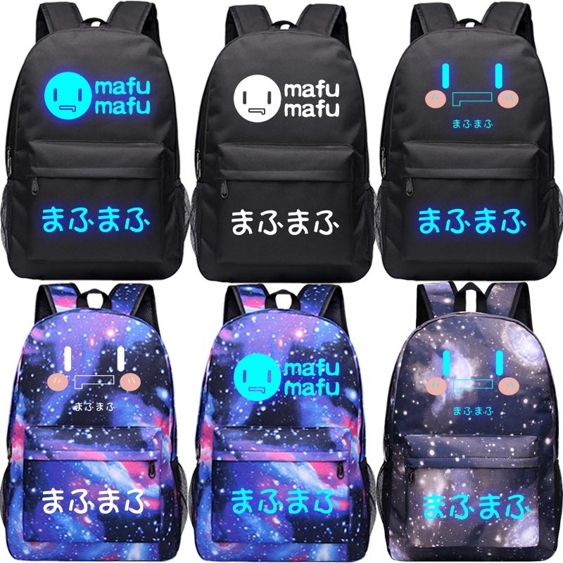 High-Q Unisex Anime Nico mafumafu Sama backpacks luminous nico backpack mafu mafu Hanser yousa Yukiri bag Student BackpackHigh-Q Unisex Anime Nico mafumafu Sama backpacks luminous nico backpack mafu mafu Hanser yousa Yukiri bag Student Backpack