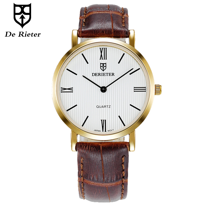 Classic Men Quartz Watches Ladies Japan Movement Two Hands ...