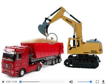 1:32 8 channels 2.4G remote control Dumper Engineering Container car or 1:24 2.4G rc excavator toys Simulation RC car toy gift 1