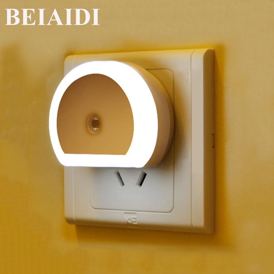 BEIAIDI Novelty LED Night Light With Light Sensor Atmosphere Lamp For Bedroom Living Room 2 USB Port Charging For Mobile Tablet потолочная люстра idlamp grace 299 6pf whitepatina