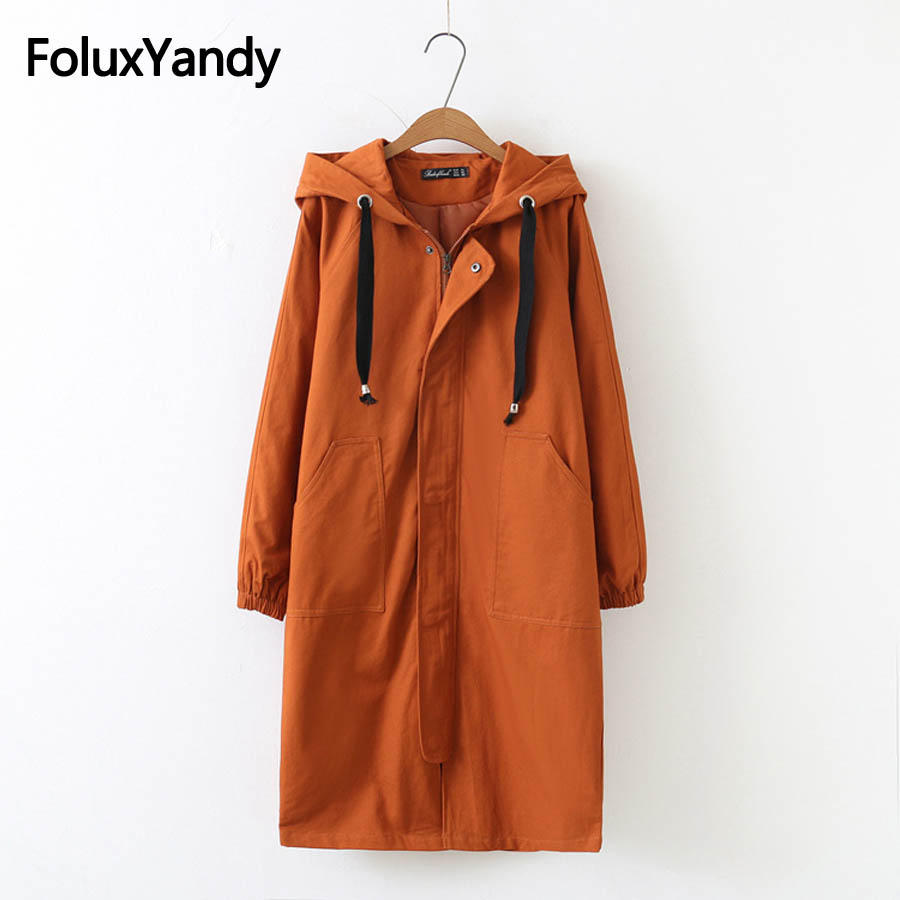 3 Colors Casual Autumn   Trench   for Women Plus Size 3XL 4XL Loose Long   Trench   Coat Solid Outerwear SWM1151