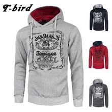T bird hoodies Men Sweatshirt Letter printing 2018 Brands hoody moletom masculino Mens Autumn winter hoodie