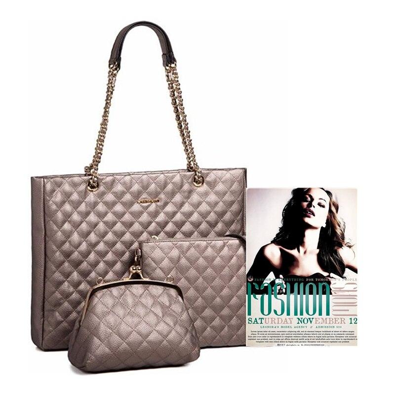 AMELIE GALANTI sac à bandoulière femme grande taille motif géométrique décontracté sac fourre-tout trois sacs indépendants sac à bandoulière femme sac à main - 6