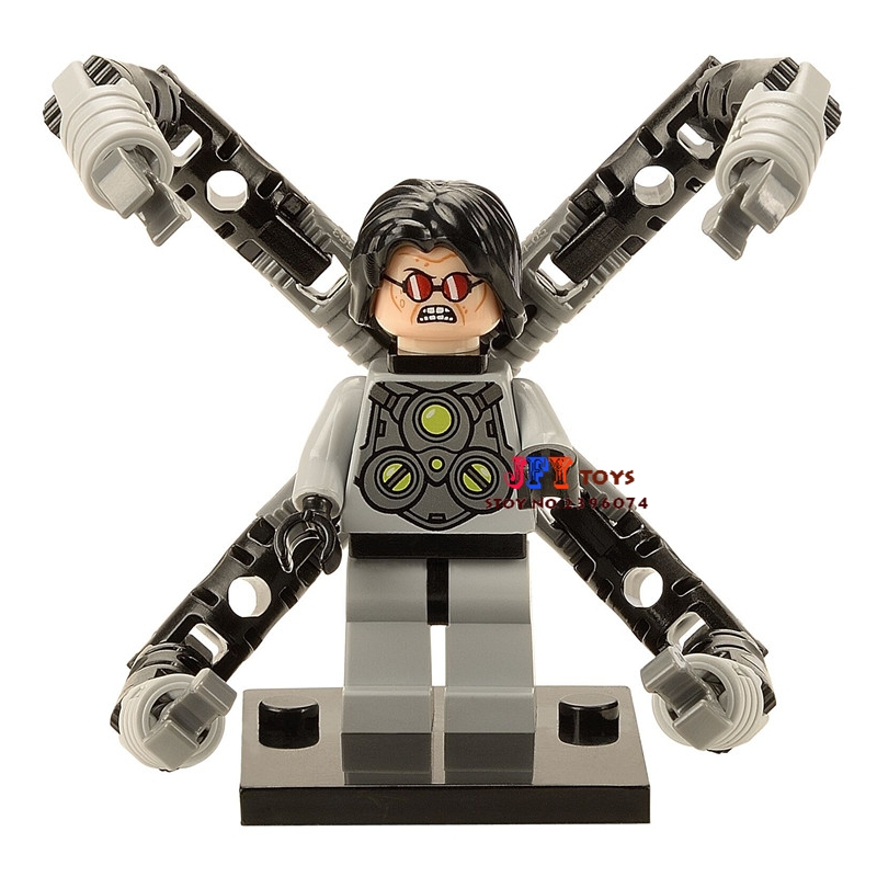 Single Sale star wars superhero marvel Doctor Octopus building blocks model bricks toys for children brinquedos menino loz super mario kids pencil case building blocks building bricks toys school utensil brinquedos juguetes menino jouet enfant