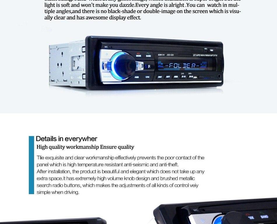 jsd 520 car stereo manual