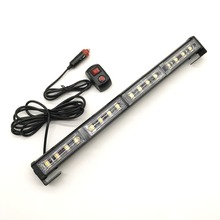 Red Blue Amber White 16 LED Car Strobe Light bar Fireman Police Flashing Emergency Warning Flash