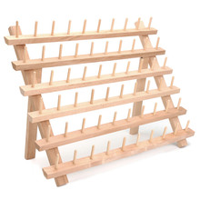 High Quality 40x32cm Wood 60 Spools Sewing Embroidery Thread Holder Bobbin Rack Stand Storage Sewing Accessories