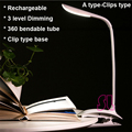High Quality Touch Switch 5W LED Dimmable book Light/Desk Lamp with USB charing Free Shipping