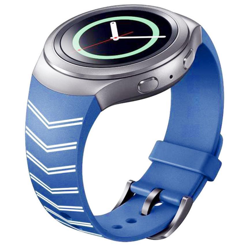 Hot Luxury TPU Silicone Sporting Watch Band Strap For Samsung Galaxy Gear S2 SM-R720 Watch Accessories Wristband Wristbans luxury silicone watch replacement band strap for samsung gear fit 2 sm r360 wristband 100