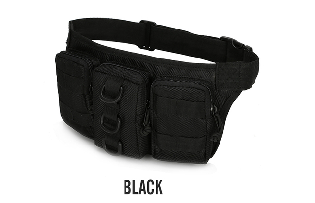 Tactical Waterproof Men Waist Pack Hiking nylon Waist Bag Outdoor Army Military Hunting Sports Climbing Camping