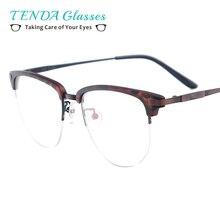 Women Fashion Glasses Lightweight Acetate Metal Eyeglasses Frame For Prescription Lenses Myopia & Reading