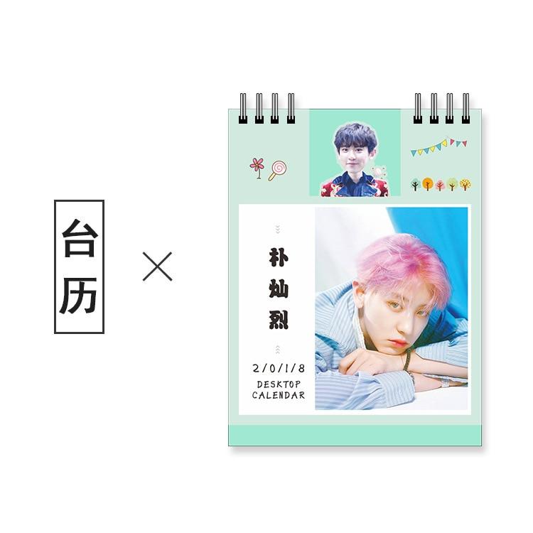 Home K-pop Kpop Exo Exact Album 2017 Desk Calendar Desktop Office Desk Supplies School Korean Style Calendar Notes K Pop Exo