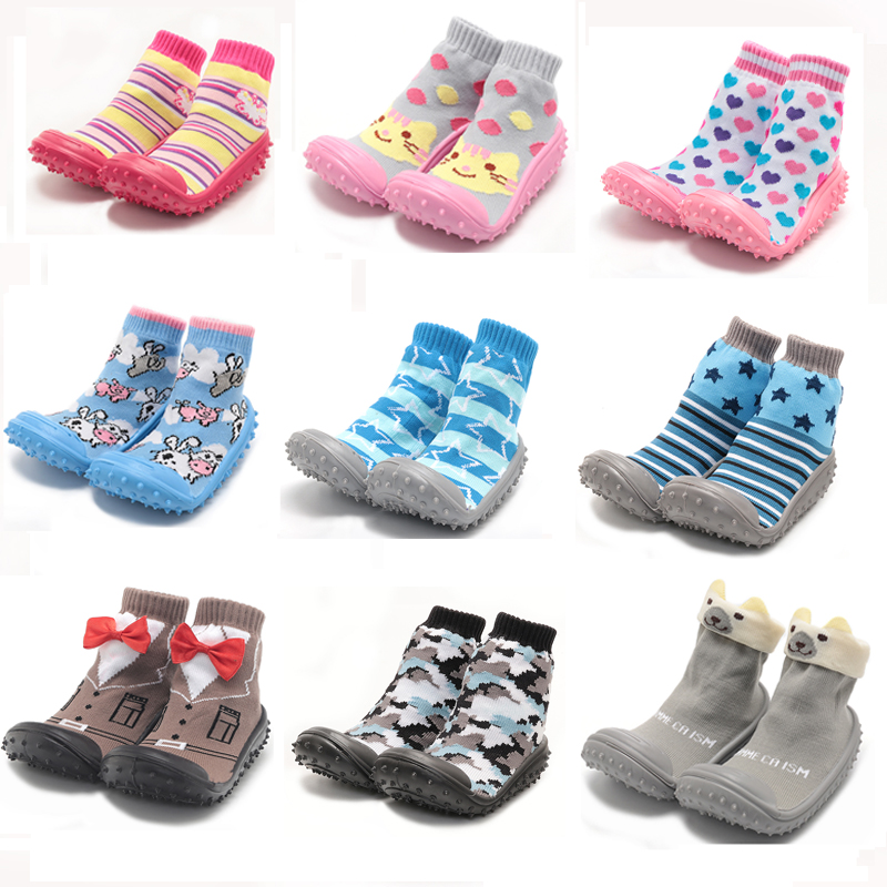 Joyo Roy Anti Slip Socks Learning To Walk Cotton Baby Socks With Rubber Soles Infant First Walkers Toddler Indoor Floor Shoes
