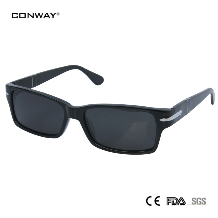 CONWAY Women Sunglasses Brand Designer Polarized Acetate Sunglasses Men 2803-S Black Color Persoling Sunglasses Oculos