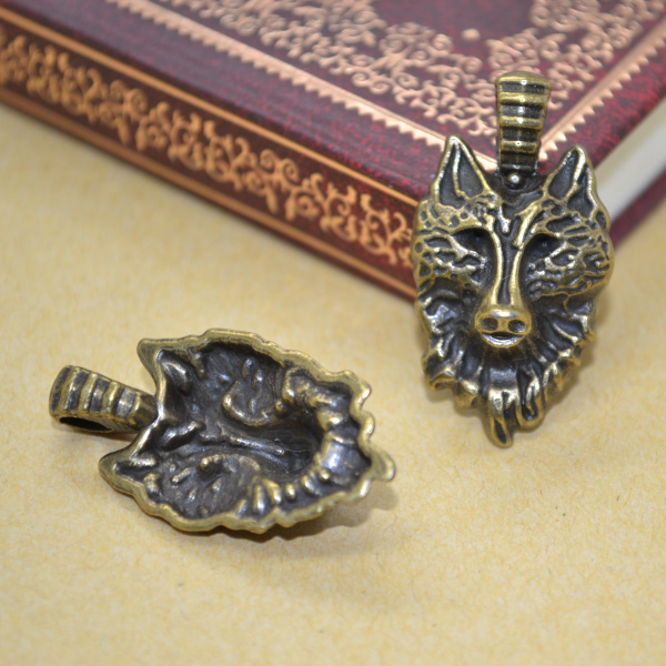 35pcs antique metal charms bronze wolf pendants jewelry findings and components fit necklaces and bracelets making Z142170