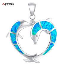 Летняя бижутерия милые дельфины стильные голубые огненные опалы
