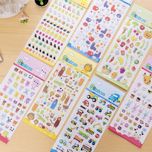 Kids Stickers Toy Creative Vehicle Animal PVC Sticker For Diary Phone Stickers Laptop Car Fridge Baby Kids DIY Stickers Toys