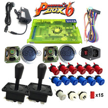 2 игрока DIY Kit Pandora box 6 1300 в 1 игровая доска и джойстик Американский HAPP Стиль Кнопка для аркадная игра машина